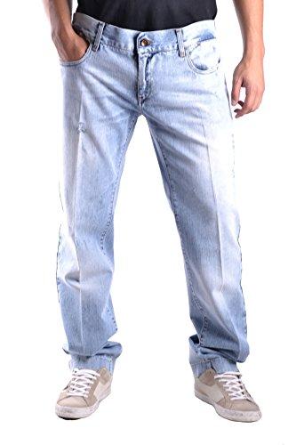 Dolce E Gabbana Herren MCBI099306O Hellblau Baumwolle Jeans