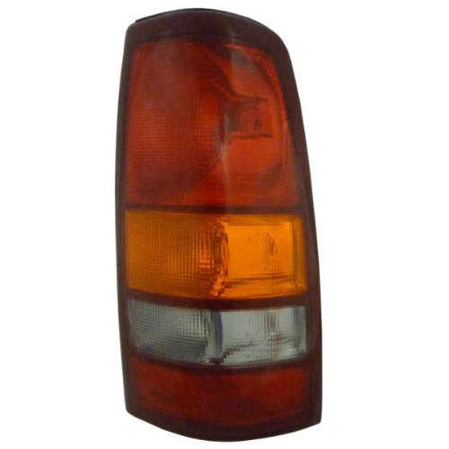 1999-2002 Chevy/Chevrolet Silverado & 1999-2003 GMC Sierra 1500 2500 & 2002-2003 Sierra 3500 Full Size Pickup Truck Fleetside/Wideside Taillight Taillamp Lens & Housing Rear Brake Tail Light Lamp Right Passenger Side (1999 99 2000 00 2001 01 2002 02 2003 03)