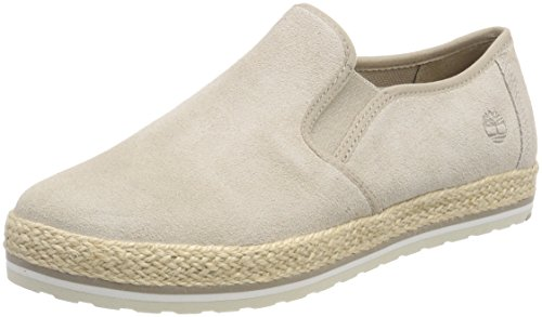 simply Leather Women''s On Timberland Sea Slip Brown Taupe Trainers L47 Elvissa A8B6q