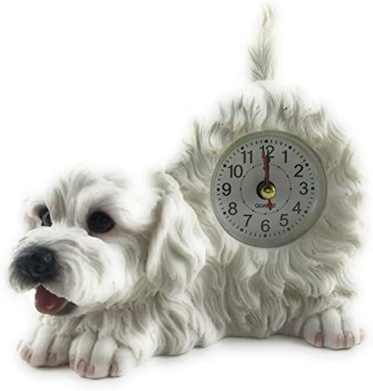 Art International Bichon Frise Critter Desk Clock