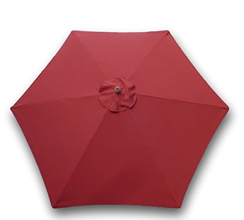 Formosa Covers 9ft Umbrella Replacement Canopy 6 Ribs in Brick Red (Canopy Only) (Formosa Covers Umbrella)