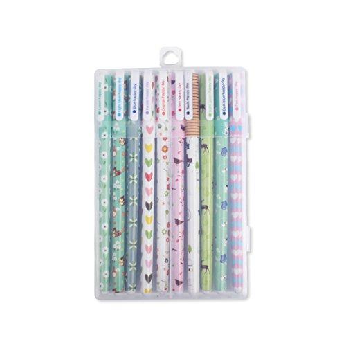 Creative cute little fresh Gel pens color pen 10 sets (10pcsD) ()