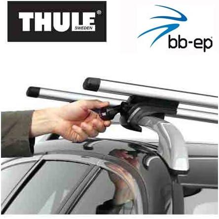 Thule 90107705 Premium Aluminium Dachtr/äger Set mit neuer WingBar Traverse