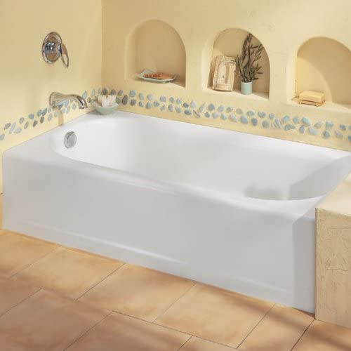 American Standard 2394202ICH.020 Princeton Recess 5-Feet Left-Hand Drain Bath Tub with Integral Overflow, White