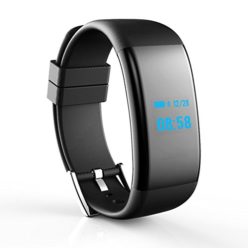 YZFGYP Smart Watch Smart Bracelet Heart Rate Monitor Wireless Smart Bracelet Tracker Pedometer Smart Watch (Color : Black)