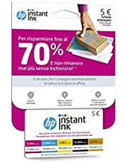 Prepaid-kaart voor registratie op HP Instant Inkservice, kaart uit de waarde van vijf euro, kaart voor gebruik tijdens de installatie van de printer met HP Instant Ink