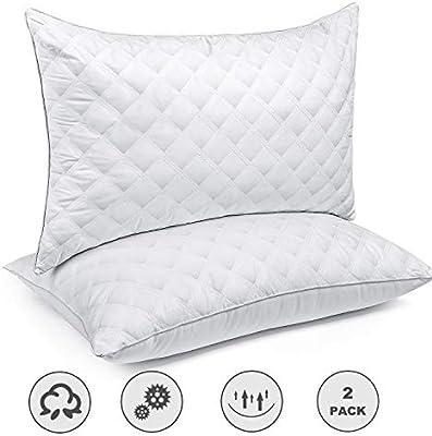 Queen Size Bed Pillows Foam Cool Gel Hypoallergenic Comfort Sleep Set Of 2 Hotel