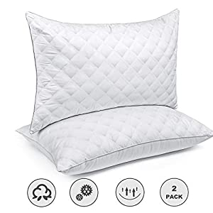 SORMAG Bed Pillows for Sleeping Set of 2, King Size 20 x 36 Inches, Luxury Hotel Collection Gel Pillows 2 Pack…