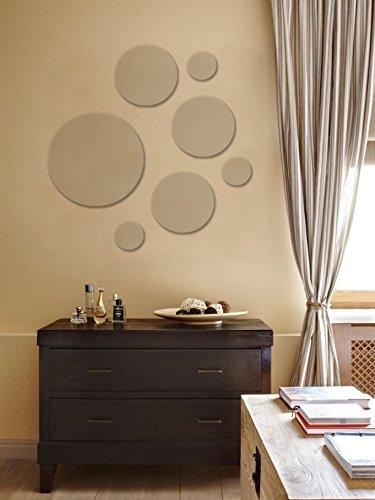 7 Piece Round Mirror Set, Assorted Sizes Better Crafts 0210