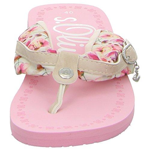 s.Oliver 5-5-27110-36-537 - Sandalias para mujer LT Pink Flower