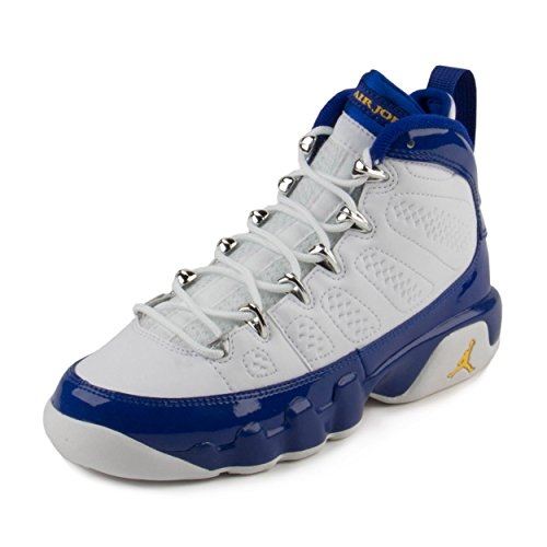 Nike Boys Air Jordan 9 Retro BG Kobe Bryant White/Tour Yellow-Concord Leather Size 4.5Y by NIKE