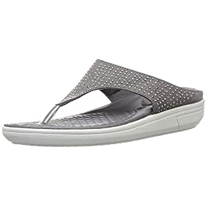 BATA Women's Blossom Thong Grey Slippers-7 (5712988)