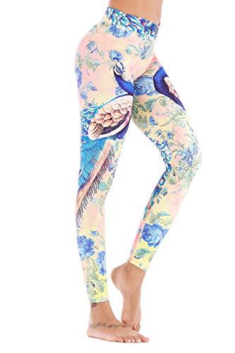 (Chisportate Women High Waist Yoga Legging Power Flex Tummy Control Workout Stretch Sport Yoga Pants for Gym Exercise Fitness )