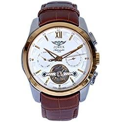 Zorex Men's Automatic Mechanical Watch Sapphire-glass Genuine Leather Strap