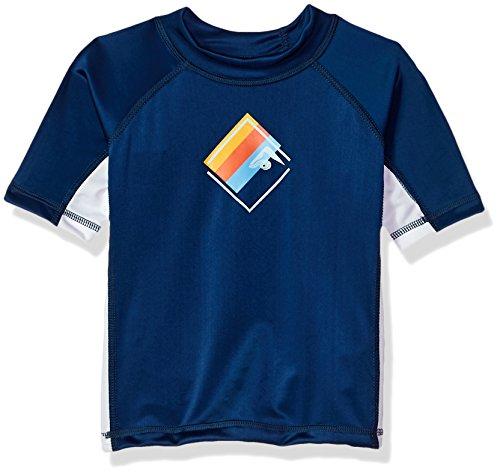 Kanu Surf Toddler Boys' Haywire UPF 50+ Sun Protective Rashguard Swim Shirt, Victor Navy, 3T