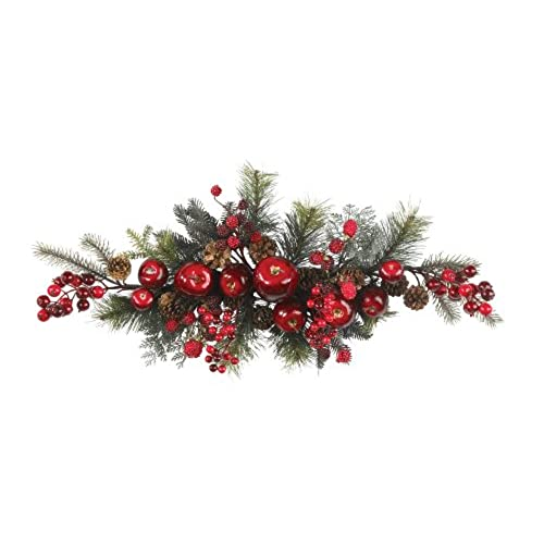 nearly natural 4678 apple berry swag 30 inch redgreen - Christmas Greenery
