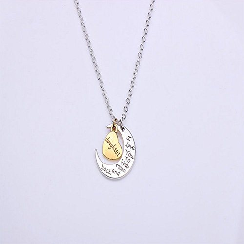 DaoRier 1pc Colgante collar de mujer Cadena Clain Neklace Silver Daughter
