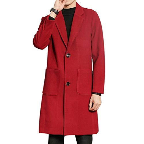 color Da Davanti Per Coat Tempo Libero Regular M Colletto Zip Uomo Con Uomo Chiusura Fit Winered Sul Il Cappotto Size Collo Lungo UqdB4B