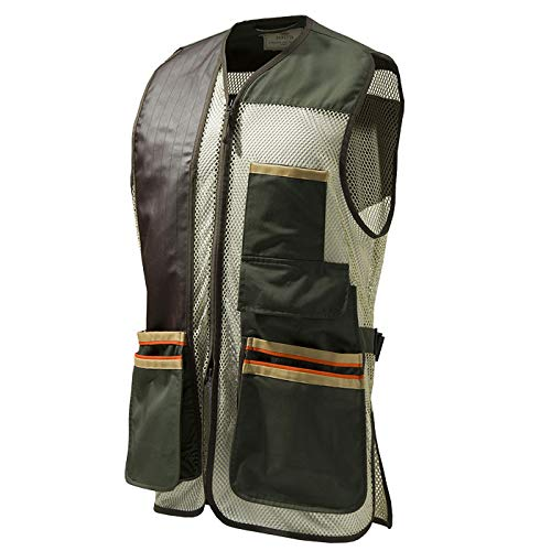 Beretta Mens US Two Tone Shooting Vest, Green Olive, M ()