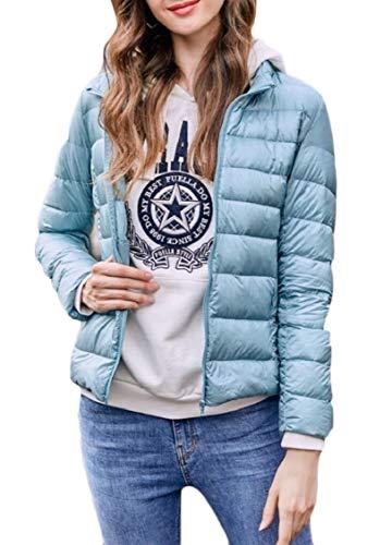 Blue Light Gocgt Zipper Down Women's Puffer Down Lightweight Packable Jacket Coats 4qrvtn4zw