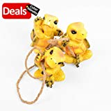 Turtle Garden Decor Statue Outdoor Lawn Ornaments and Figurines – Frolicking Turtles Hanging Yard Art Sculpture Decorative – Set of 3