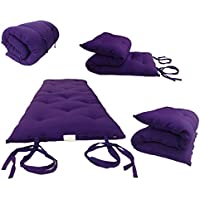 Brand New Queen Size Purple Traditional Japanese Floor Futon Mattresses, Foldable Cushion Mats, Yoga, Meditaion 60 Wide X 80 Long