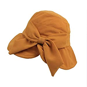 Women 's Bucket Hat with Bowtie- Foldable Sun Protection Hat Beach Cap, One Size