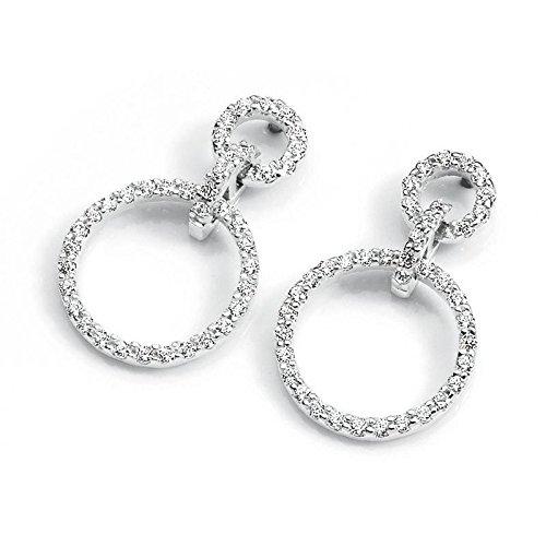 Boucles d'oreilles Ambrosia pour femme aoz059or blanc