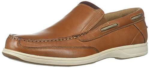 Florsheim Men's Lakeside Slip Boat Shoe, Saddle Tan, 9.5 M US