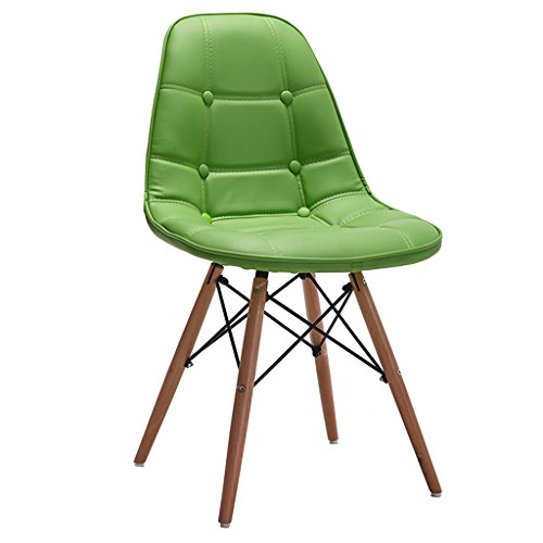 (MUTANG Pu Leather Leather Lounge Chair Pu Leather Fabric Cushion Beech Legs for Bedroom Living Room Lounge Modern Home, Black, Green, Red, White (Color : Green))
