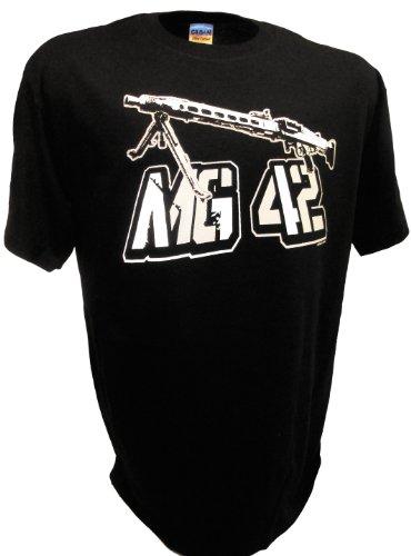 Wwii Machine - Men's MG42 German Machine WW2 Infantry Army Gun By Achtung T Shirt LLC