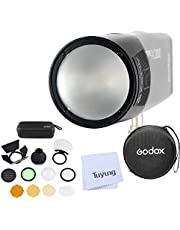 Godox H200R Round Flash Head and Godox AK-R1 Accessories Kit Compatible for Godox AD200 AD200PRO Pocket Flash Light