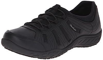 Skechers for Work Women's Bungee Slip Resistant Lace-Up Sneaker