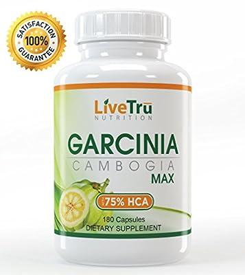 MAX Pure Garcinia Cambogia Extract - 75% HCA, 4200mg. MAXIMUM WEIGHT LOSS - Safe, & Natural! 180 caps