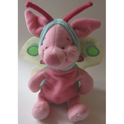 - Disney Bean Bag Plush Piglet As a Butterfly