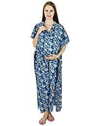 Bimba Nursing Kaftan Gown Maternity Gown, Hospital Delivery Gown- Front Buttons
