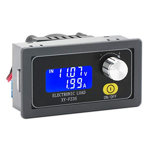 Board Lvps (Load Detector, DROK Battery Load Tester Resistor Module 5A 35W Adjustable Constant Current LCD Display DC Electronic Capacity Aging Discharge Detector Monitor Resistance Board with Cooling Fan)