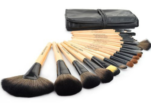 Dragonpad® Wisedeal 24pcs cosmétiques professionnels pinceau de maquillage Set avec Balck Sac