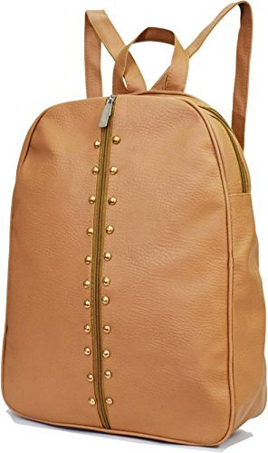 Bizarre Vogue Stylish College Bags Backpacks For Girls Tan Bv1084
