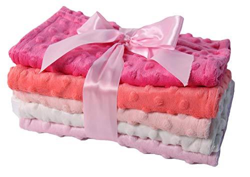 Baby 5 Pack Minky Dot Burp Cloths - Shades Pink