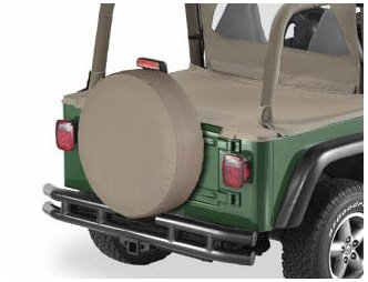 Bestop 61030-33 Dark Tan Large Tire Cover for tires 30 diameter 10 deep 10 deep