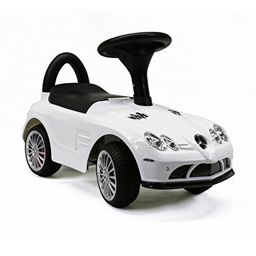 MARTIN RANGER Licensed Mercedes-Benz SLR 722S Push Ride On Cars for Toddlers With Music&Horn Sounds, White (Car Licensed)
