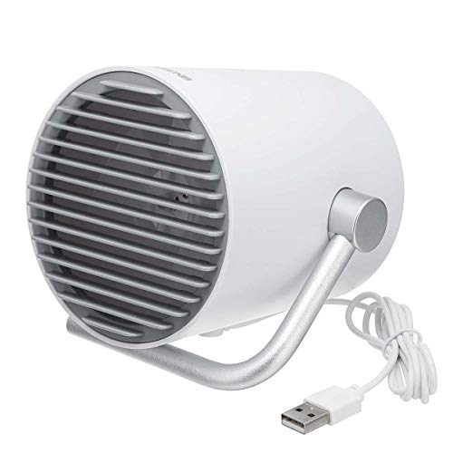 KHKJ AUGIENB Portable USB Desk Fan Mini Rechargeable Cooling Fans Twin Turbo Blades Quiet 2 Speed Mode for Home Office Outdoor ()