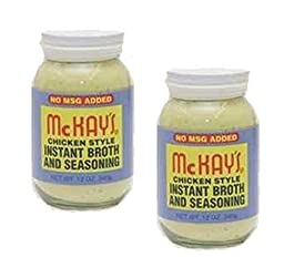 McKay\'s Chicken Style Instant Broth And Seasoning - No MSG Added - 12 OZ Jar (2-Pack)