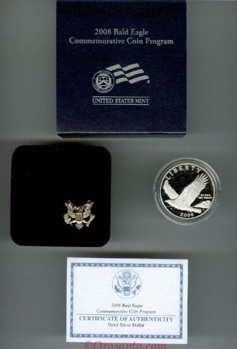 2008 Eagle (2008P Bald Eagle Proof Silver)