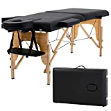 "Massage Table Massage Bed Spa Bed 73"" Long Portable 2 folding W/Carry Case"