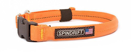 "Spindrift 043 Comfort Dog Collar - Large (3/4"" x 19-23""), Orange"