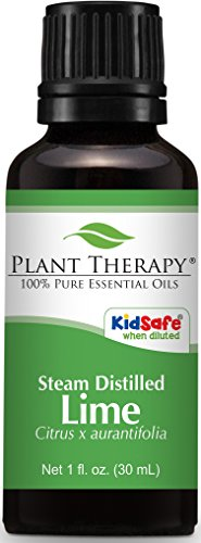 Plant Therapy Lime Steam Distilled Essential Oil. 30 ml. 100% Pure, Undiluted, Therapeutic Grade.