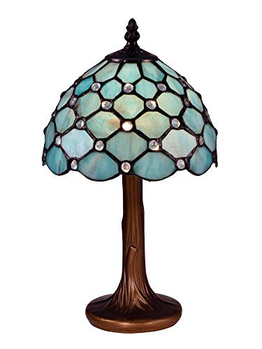Dale Tiffany STT16090 Castle Point Tiffany Accent Table Lamp Antique Bronze