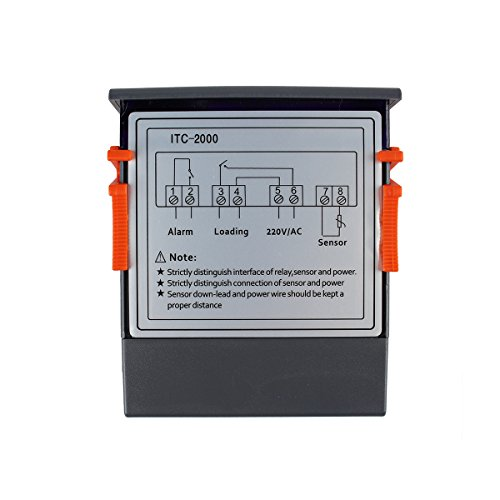 ... Control de Calefacción o Refrigeración y Conexión Dispositivo de Alarma con Sonda 220v para Frigorifico, Incubadora Terrario, Calentador de Agua y ...